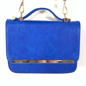 Urban Expressions Blue Faux Leather Crossbody bag